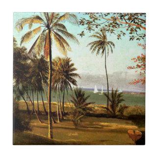 Bierstadt - scène de la Floride Petit Carreau Carré