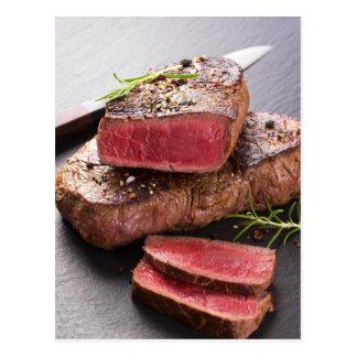 Bifteck de boeuf carte postale