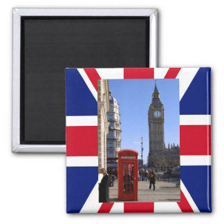 Big Ben et cabine téléphonique rouge à Londres Aimants