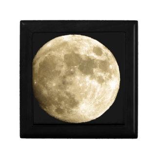 big lune petite boîte à bijoux carrée