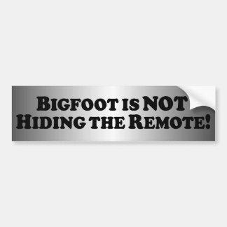 Bigfoot ne cache pas l'extérieur - de base autocollant de voiture