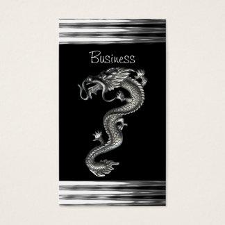 Bijou argenté noir de serpent de dragon de carte