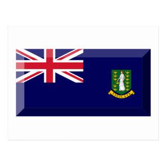 Bijou de drapeau des Îles Vierges britanniques Cartes Postales