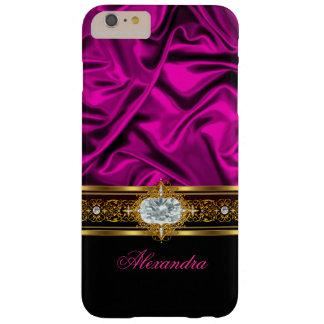Bijou en soie rose foncé élégant d'or blanc de coque iPhone 6 plus barely there