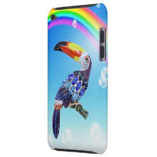 Bijou et arc-en-ciel imprimés colorés de toucan étuis iPod touch