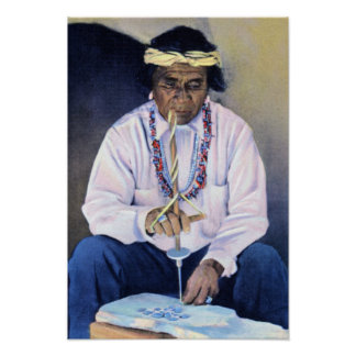 Bijoutier de Natif américain Posters