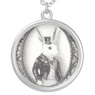 Bijoux blancs de lapin de collier blanc de lapin
