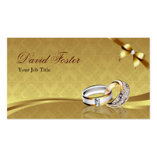 Bijoux de bijoux de bijoutier d'or de diamant carte de visite standard