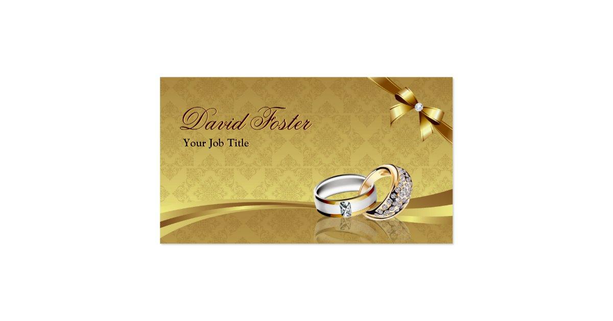 bijoux de bijoux de bijoutier d 39 or de diamant carte de visite standard zazzle. Black Bedroom Furniture Sets. Home Design Ideas