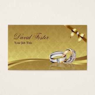 Bijoux de bijoux de bijoutier d'or de diamant cartes de visite