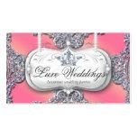 Bijoux de mode épousant le scintillement élégant d cartes de visite personnelles