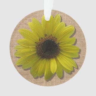 Bijoux - pendentif - tournesol Pluie-Trempé par