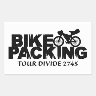 Bikepacking : Autocollant de clivage de visite
