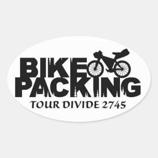 Bikepacking ovale : Autocollant de clivage de