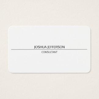 Bilatéral arrondi attrayant blanc simple simple cartes de visite