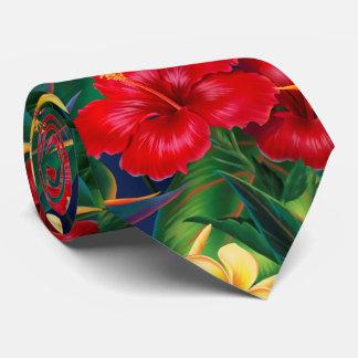 Bilatéral hawaïen de ketmie tropicale de paradis cravates