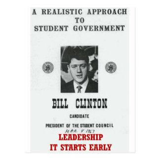 Bill Clinton à la DIRECTION de Georgetown Carte Postale