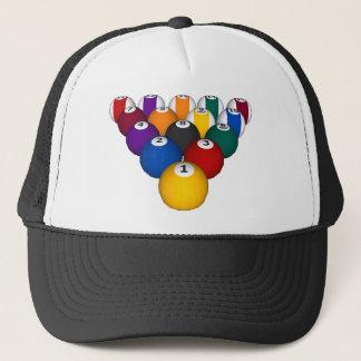 Billards/boules de piscine - casquette fait sur