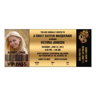 Billet d'admission de la mascarade VIP de sweet si Faire-parts