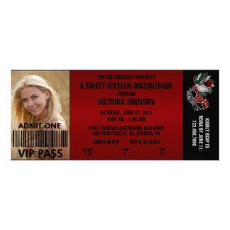 Billet d'admission de la mascarade VIP de sweet si Invitations Personnalisées