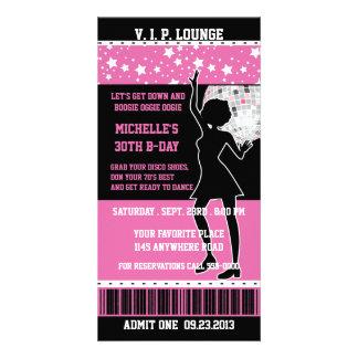 Billet d'anniversaire de silhouette de danseur de  cartes de vœux avec photo