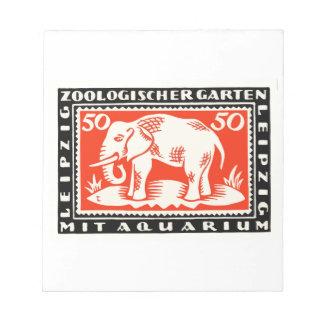 Billet de banque 1919 de Notgeld de zoo de Bloc-note
