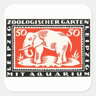 Billet de banque 1919 de Notgeld de zoo de Sticker Carré