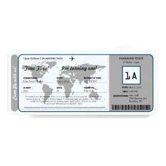 Billet de carte d'embarquement d'anniversaire de