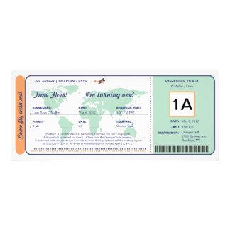 Billet de carte d'embarquement d'anniversaire de c invitations personnalisées