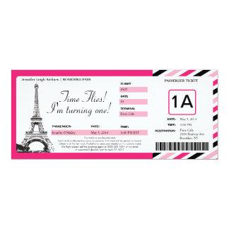 Billet de carte d'embarquement d'anniversaire de invitations personnalisables