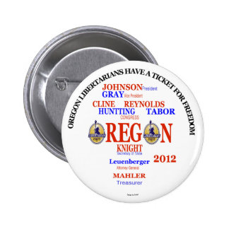 Billet de libertaires de Gary Johnson Orégon Badges