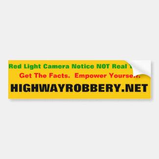 Billet de lumière rouge autocollant de voiture