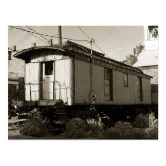 Billet de train et carte postale de rail