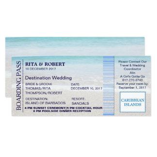 Billet-Destination de carte d'embarquement du Carton D'invitation 10,16 Cm X 23,49 Cm
