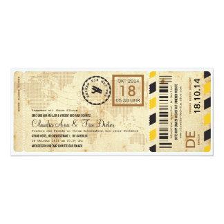 Billet Hochzeitseinladung de Flugzeug Bordkarte Carton D'invitation 10,16 Cm X 23,49 Cm