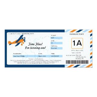 Billet plat vintage de carte d'embarquement carton d'invitation  10,16 cm x 23,49 cm