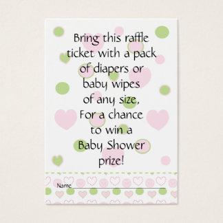 Billet/sucre et épice de tombola de baby shower cartes de visite