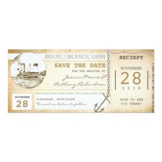 billets de carte d'embarquement de croisière pour carton d'invitation  10,16 cm x 23,49 cm