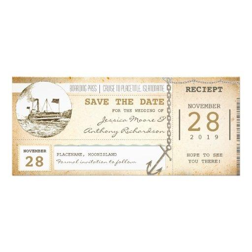 billets de carte d'embarquement de croisière pour  invitation