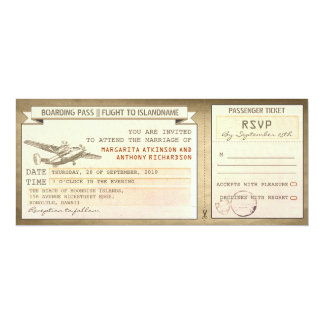 billets de carte d'embarquement - invitations