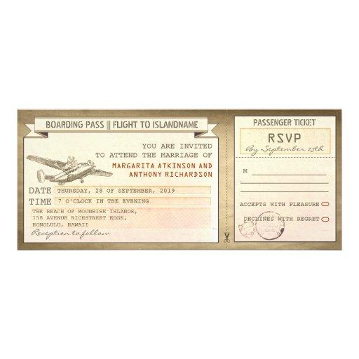 billets de carte d'embarquement - invitations vint