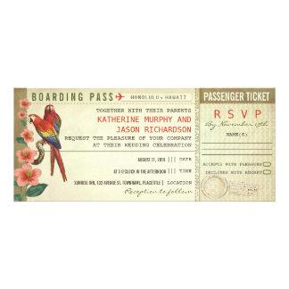billets de mariage de carte d'embarquement avec le