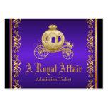 Billets royaux d'admission de bal d'étudiants carte de visite grand format