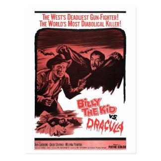 Billy l'enfant contre la carte postale de Dracula