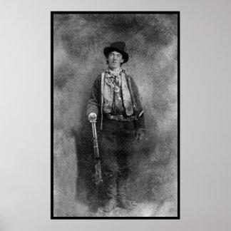 Billy photo vintage occidentale de hors-la-loi poster