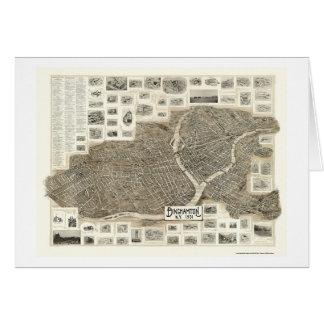 Binghamton, carte panoramique de NY - 1901