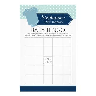 Bingo-test de baby shower - jeu mignon de pois de prospectus 14 cm x 21,6 cm