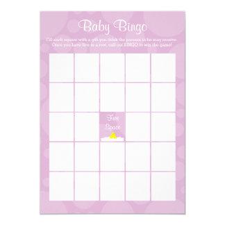Bingo-test de baby shower - thème mignon en carton d'invitation  12,7 cm x 17,78 cm