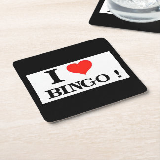 Bingo-test d'I_Love Dessous-de-verre Carré En Papier