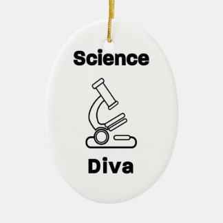 Bio diva de la Science Ornement Ovale En Céramique